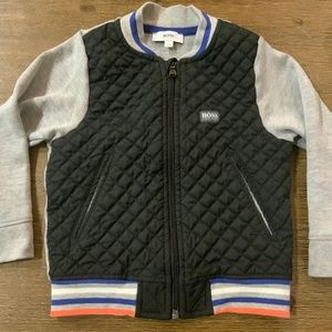 HUGO BOSS QUILTED AND JERSEY TODDLER JACKET
